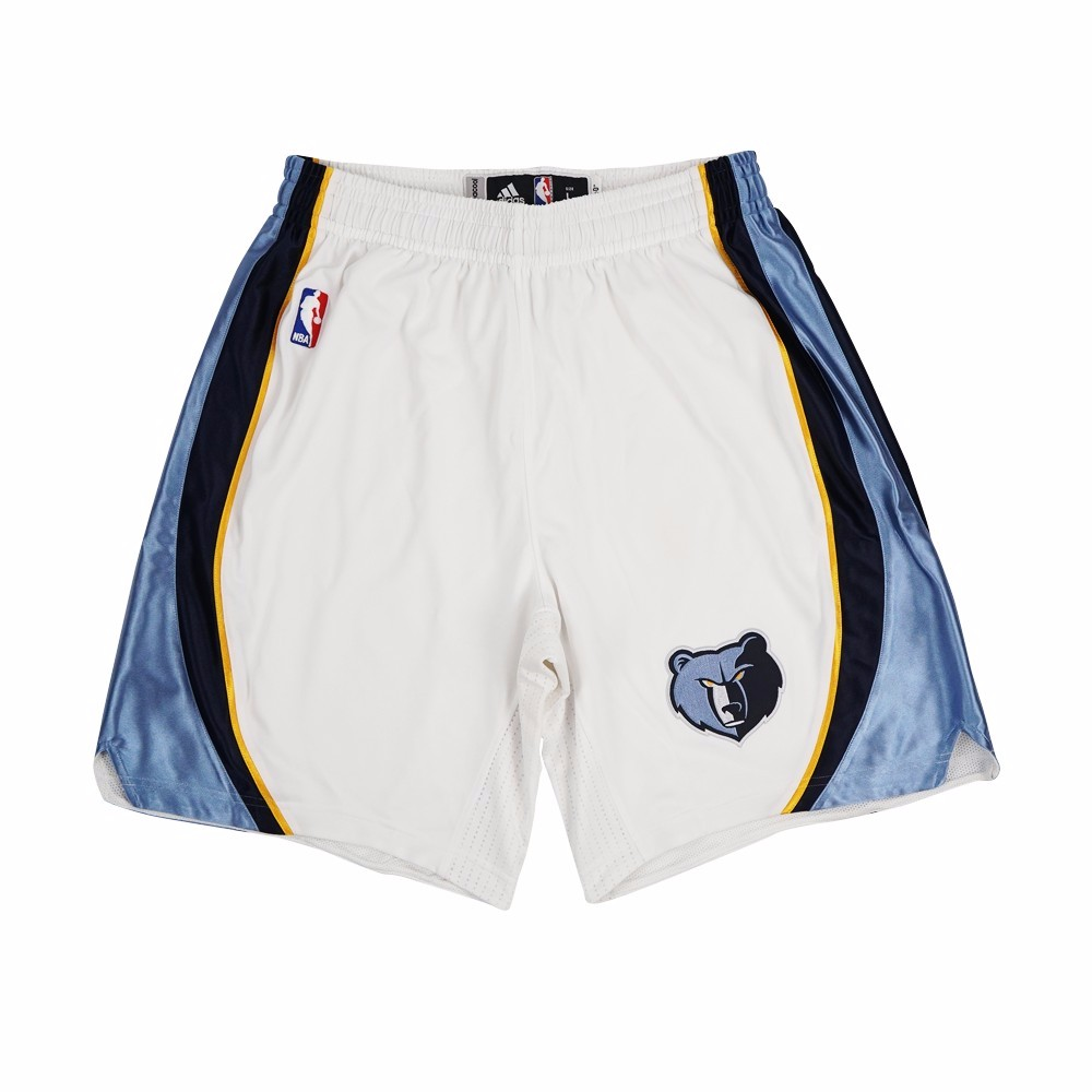 Memphis Grizzlies NBA Adidas White Authentic On-Court Home Climalite Game Shorts For Men