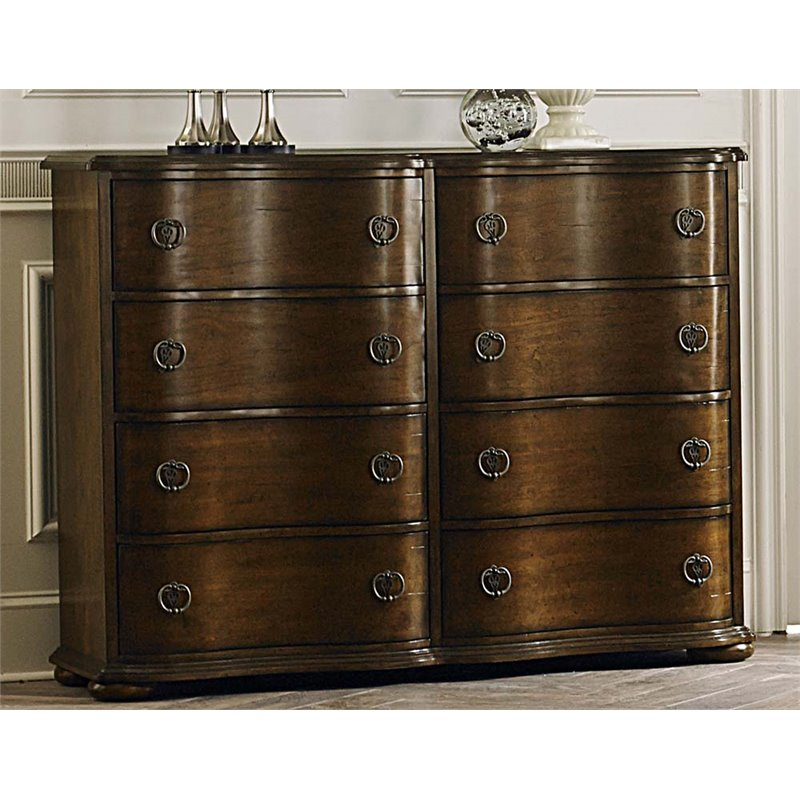 Liberty Furniture Cotswold 8 Drawer Bureau Dresser in Cinnamon
