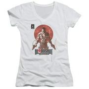Bloodshot Reborn Juniors V-Neck Shirt
