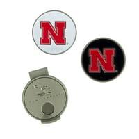 Nebraska Cornhuskers Hat Clip & Ball Markers Set - No Size
