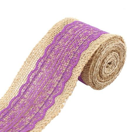 Feast Festival Burlap DIY Gift Wrapping Decorative Handcraft Ribbon Roll Purple - Diy Paper Crown