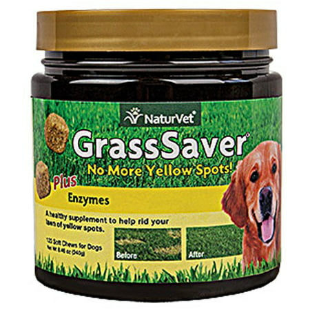 NaturVet GrassSaver Tasty Soft Chew Supplement for Dogs, 120 Soft