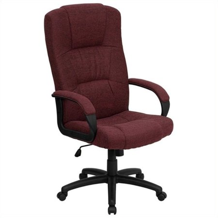 Scranton & Co High Back Office Chair in - Burgundy Office Chairs