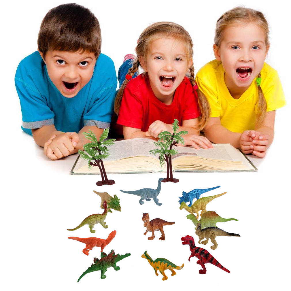 OUTAD Luminous Dinosaur Model Toy Light-up Animal Figure Dinosaur Toys for Kids