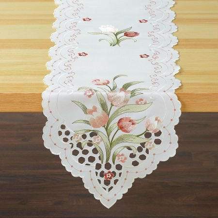 Spring Tulip Cutout Table Runner- 13