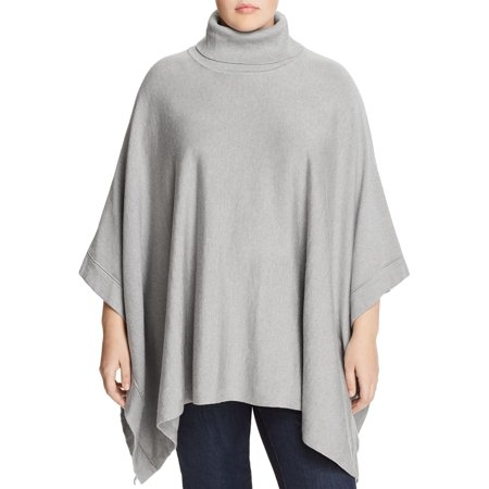 Women's Plus Turtleneck Poncho Sweater 2X