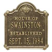 Personalized Whitehall Products Chatham Wedding/Anniversary Plaque with Antique Brass Finish
