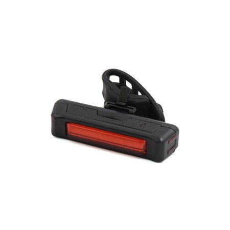 Black Shell 5 Modes USB Rechargable Red Light Rear Tail  Lamp for