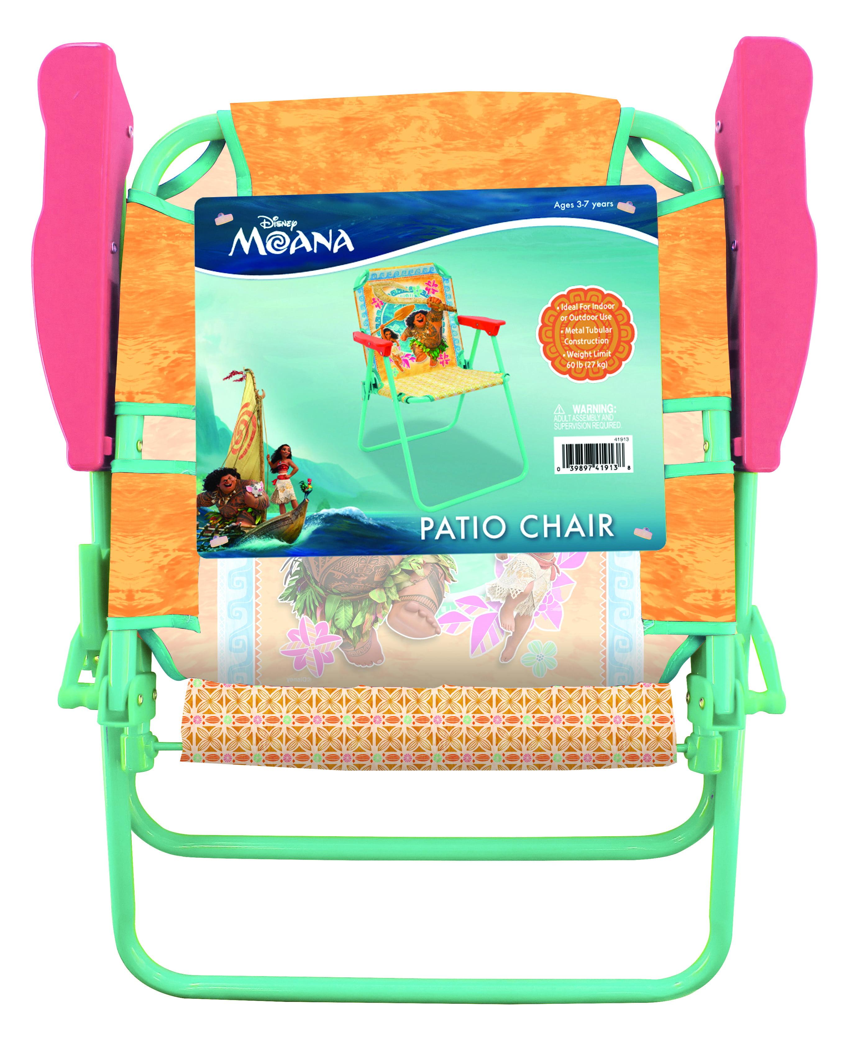 folding camping chair seat MOANA PATIO Boys Girl Toddler Baby