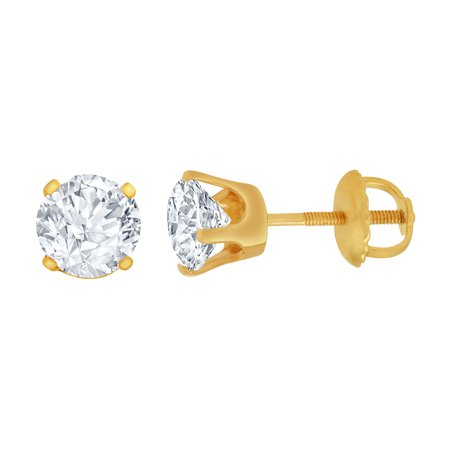 2/5 ct Diamond Stud Earrings (I3 Clarity, IJ color) 10kt Yellow Gold.