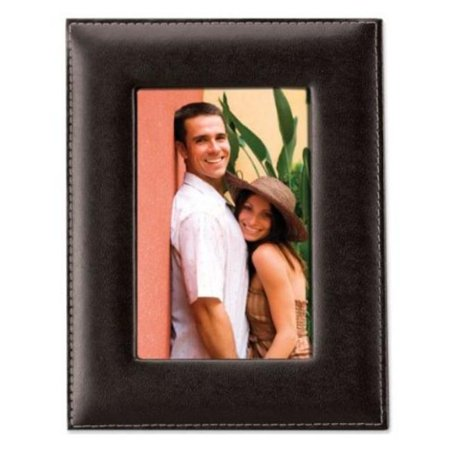 Black Leather 5x7 Picture Frame - image 1 de 1