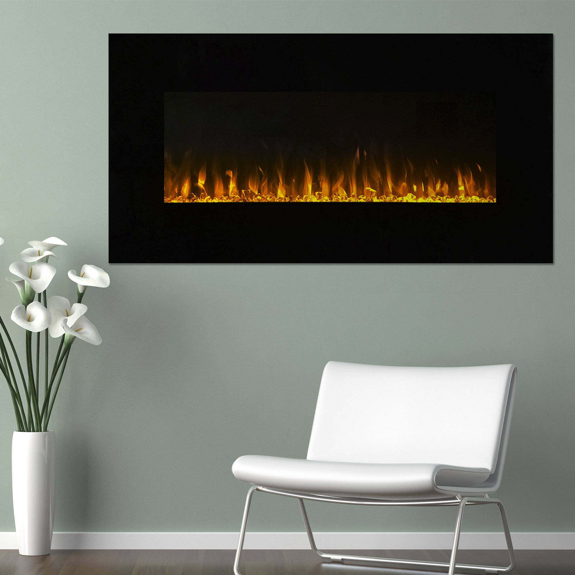 Electric Fireplace Wall Mounted  LED Fire and Ice Flame  With Remote 36  inch by Northwest   Walmart comElectric Fireplace Wall Mounted  LED Fire and Ice Flame  With  . Electric Wall Fireplace Heaters. Home Design Ideas