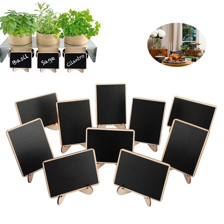 Mini Chalkboard Place Cards with Easel Stand for Wedding, Birthday Parties, Table Numbers, Food Signs and Upcoming Halloween Holiday Decorations - Halloween Foods For Work