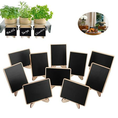 Mini Chalkboard Place Cards with Easel Stand for Wedding, Birthday Parties, Table Numbers, Food Signs and Upcoming Halloween Holiday Decorations 10Pcs