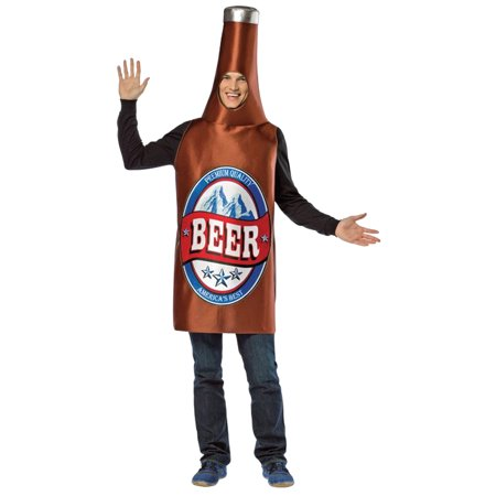 Beer Bottle Adult Costume](Beer Costumes For Men)