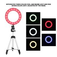 HERCHR LED Fill Light, 10  LED Ring Fill Light with Stand Dimmable LED Fill Light Kit For Video Live Makeup, Ring Fill Light