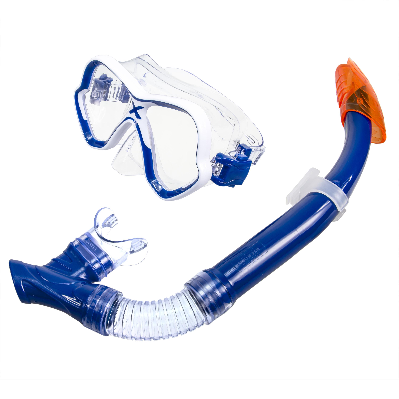 Adult Excellence Mask & Snorkel Swim Set - Blue