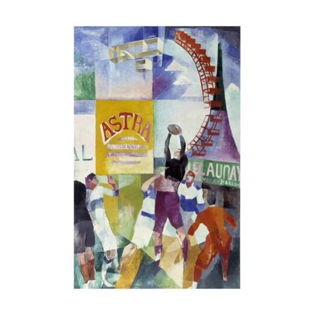 The Cardiff Team by Robert Delaunay Print Wall (Cardiff Wall)