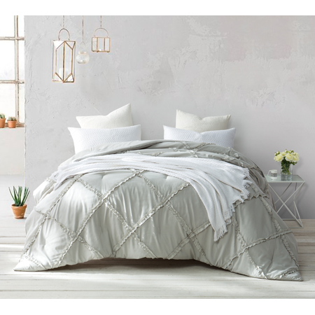 Silver Birch Gathered Ruffles - Handcrafted Series - Oversized Comforter ()