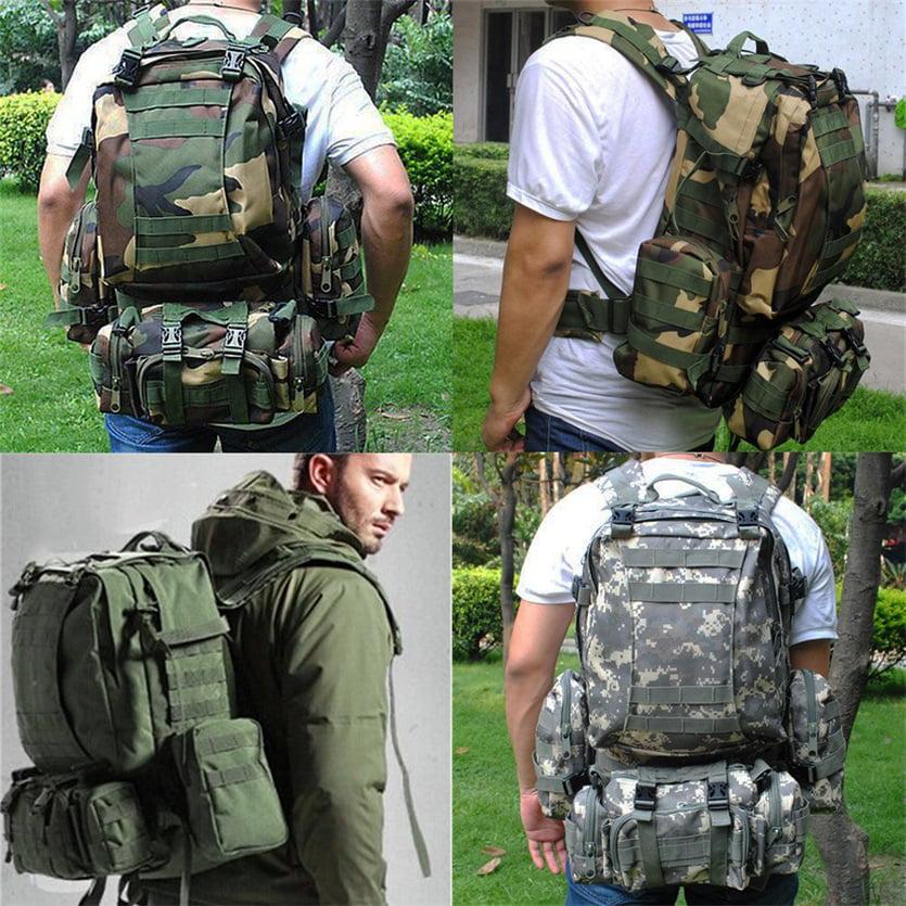Outdoor Climbing Backpack Rucksacks Sport Camping Travel Combination Bag