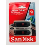 SanDisk 16GB Cruzer Glide USB 2.0 Flash Drive, 2 Pack