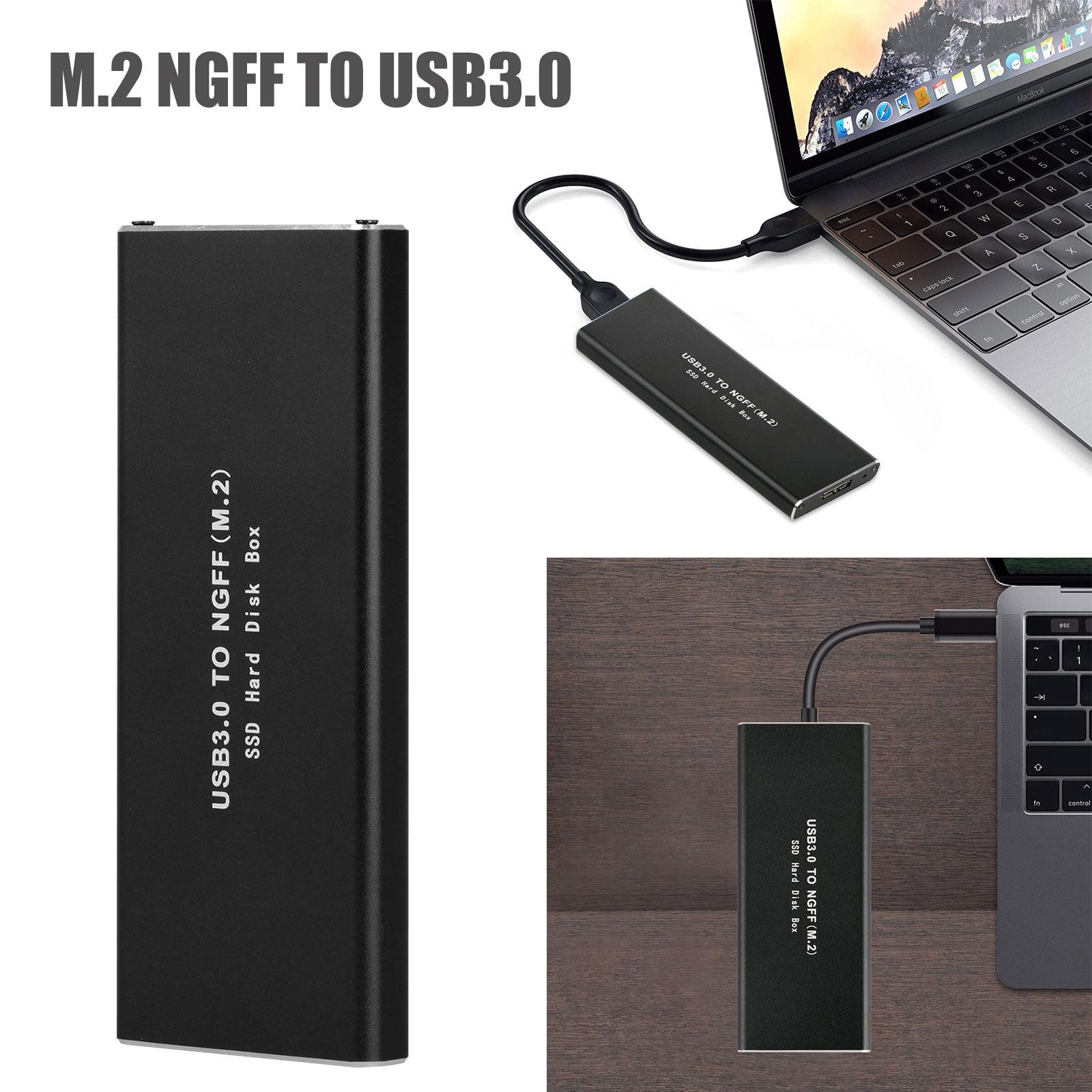 M.2 SATA SSD to USB 3.0 External SSD Reader Converter Adapter Enclosure Aluminum