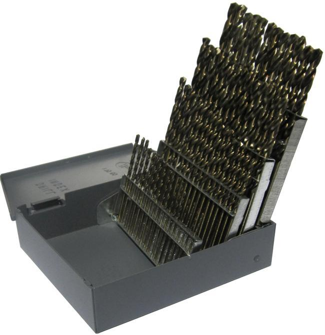 Drill America D/A60S-CO-SET #1-#60 60 pc Cobalt Screw Machine Drill Set