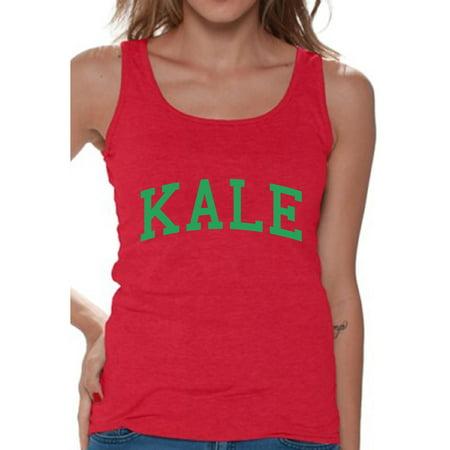 Awkward Styles - Awkward Styles Vegetarian Kale Tank Top Women's Kale Tanks Vegan Gifts for Vegetarians Veganism Vegetarianism - Walmart.com