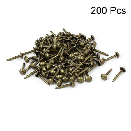 Upholstery Tack Strips (Home Furniture Upholstery Thumb Tack Nail Push Pin Bronze Tone 5mm x 12mm 100pcs)
