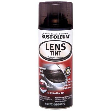 Semi Tint - Rust-Oleum 253256 Specialty Lens Tint Spray Paint, 10 Oz Aerosol, 8-10 Sq-Ft/Can, 10-Ounce, Translucent Black
