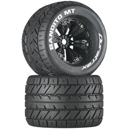 Duratrax Bandito MT 3.8 Mounted 1/2 Offset Tyre (Set of 2), Black Multi-Colored ()