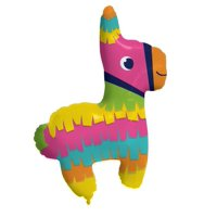 "Creative Converting Fiesta Fun Metallic Balloon Pinata Shaped, 33"" X 25"""