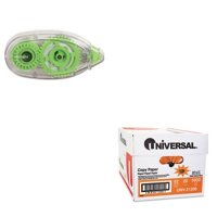 Shoplet Best Value Kit - Universal Glue Tape (UNV75614) and Universal Copy Pa...