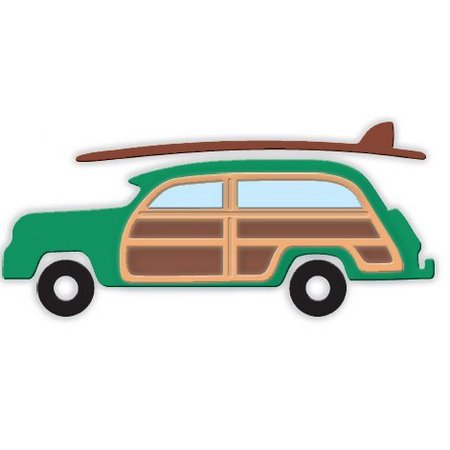 Woody Surfboard - Impression Obsession - Dies - Woody With Surfboard