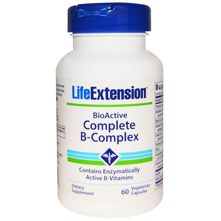 Life Extension, BioActive Complete B-Complex, 60 Veggie Caps(Pack of 1)