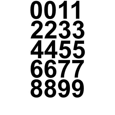 Sheet of 1 Inch (Black) Numbers Vinyl Custom Street Address Mailbox Decal Stickers Kit