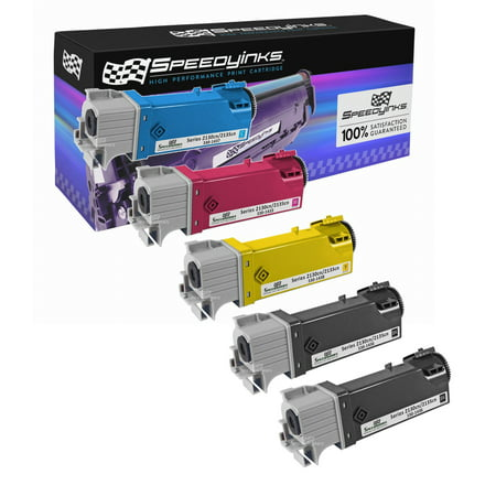 SpeedyInks - Compatible Dell 2130 Set of 5 HY Laser Toners T106C Black T107C Cyan, T108C Yellow T109C Magenta for use in Dell Color Laser 2130cn, Dell Color Laser 2135cn