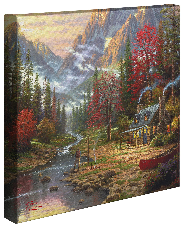 Thomas Kinkade Make A Wish Cottage 20 x 20 Gallery Wrapped Canvas