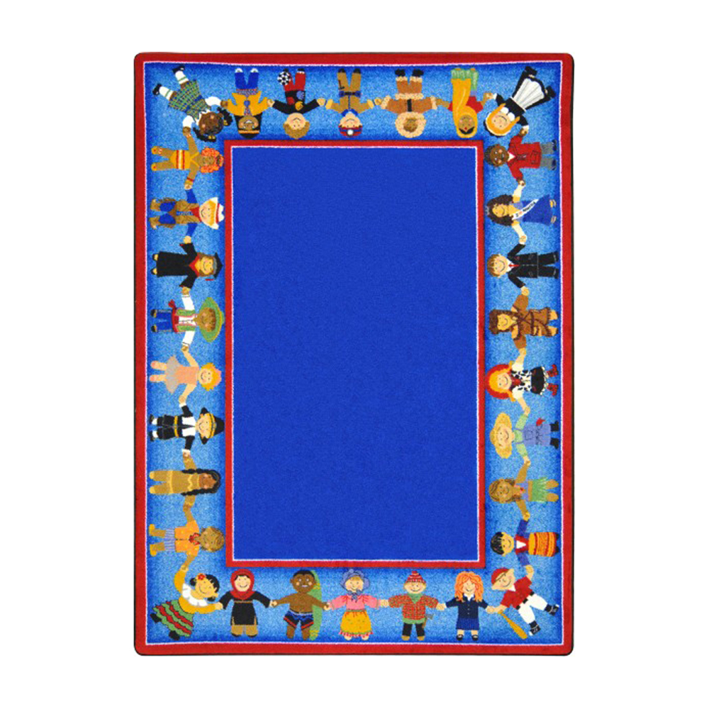"Joy Carpets Kid Essentials - Early Childhood Children of Many Cultures, 7'8"" x 10'9"", Multicolored"