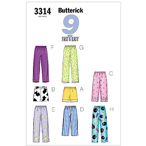 Butterick Pattern Misses' and Misses' Petite Top, Shorts and Pants, (XS, S, M)