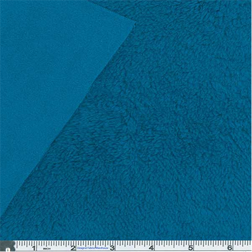 Carribean Blue Polartec Thermal Pro Low-micro/Hi-loft Fleece, Fabric By the Yard