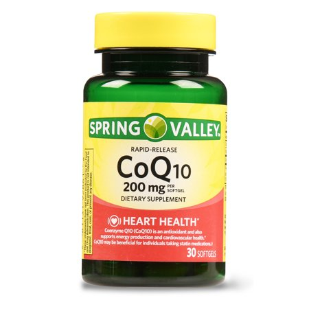 Spring Valley CoQ10 Rapid Release Softgels, 200 mg, 30 (5 Best Selling Coenzyme Q10 Supplements)