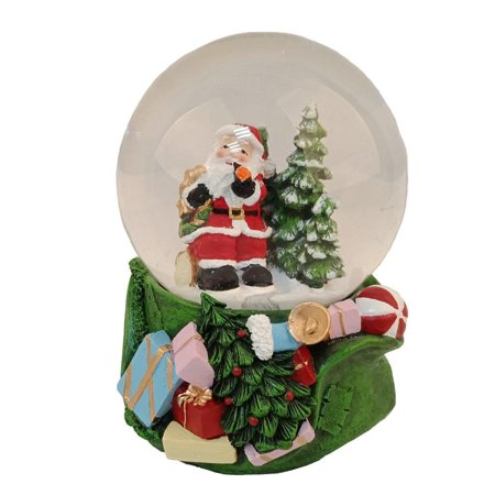 Elegantoss 100MM Christmas Santa Poly resin Musical Water Snow Globe