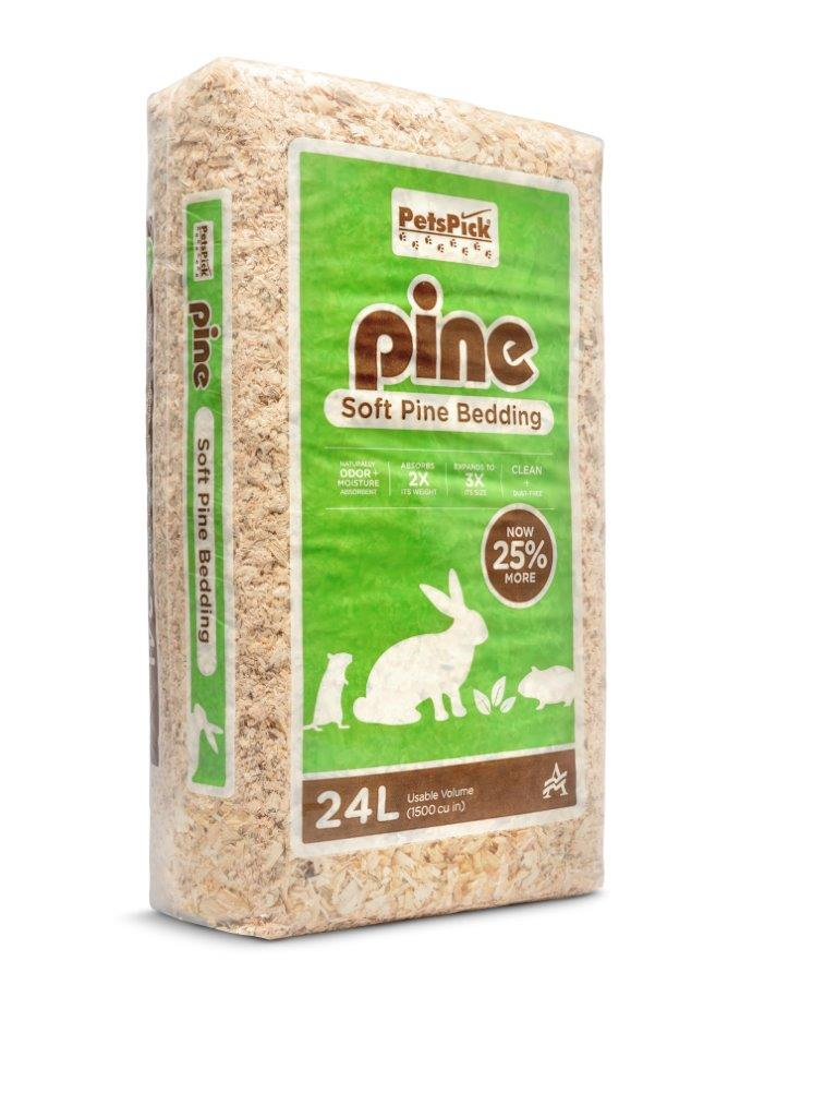 Pets Pick 20L Pine Pet Bedding, Pine Shavings, For Hamsters