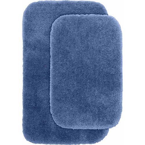 Plush Bathroom Rug Sets: Finest Luxury Ultra Plush Nylon 2-Piece Washable Bathroom