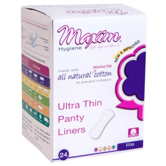 Natural Cotton Ultra Thin Pantiliners Light Days Maxim Hygiene Products 24 Pad