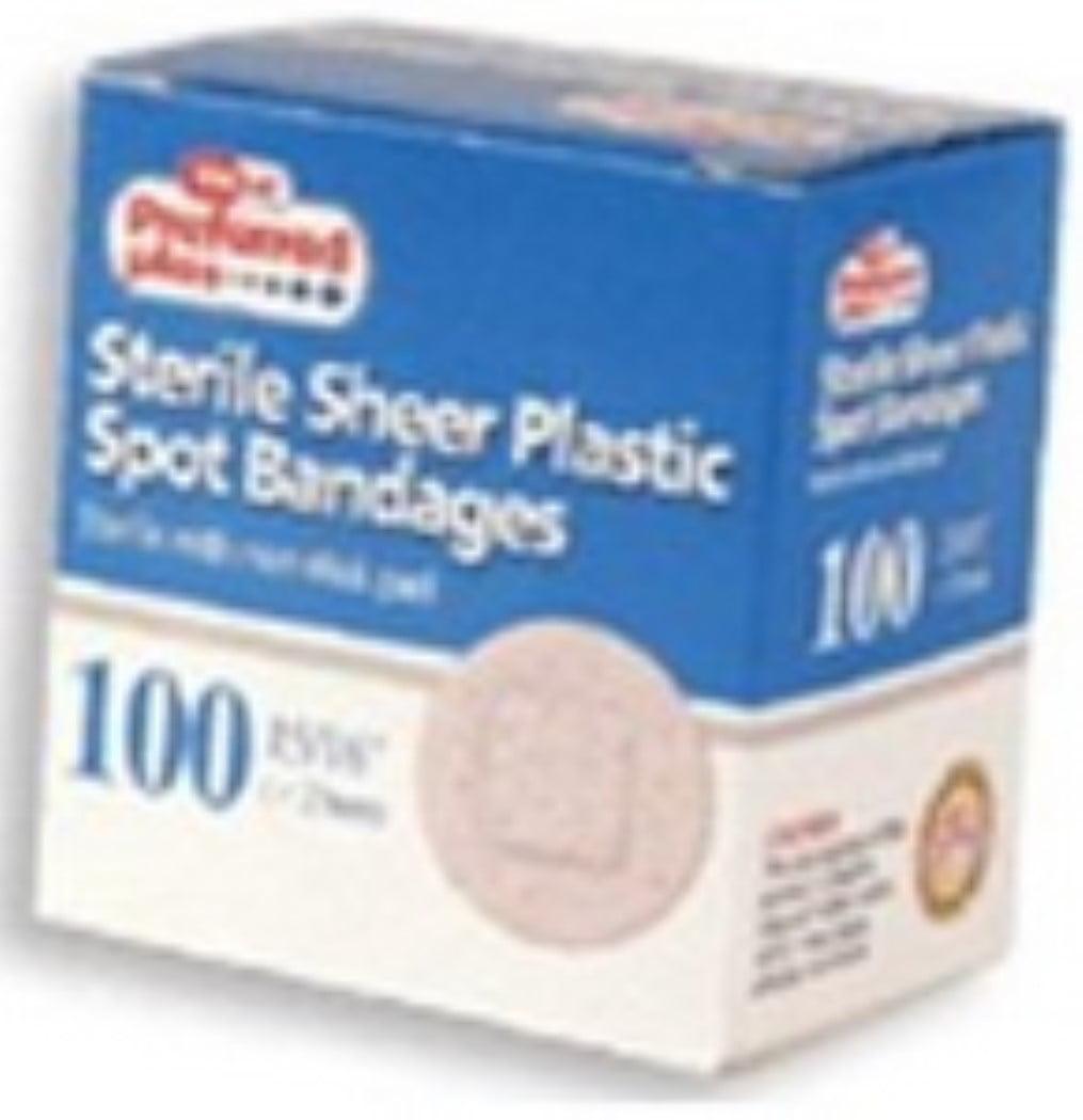 Bandages Sterile Sheer Plastic Spot 100 ea (Pack of 2)