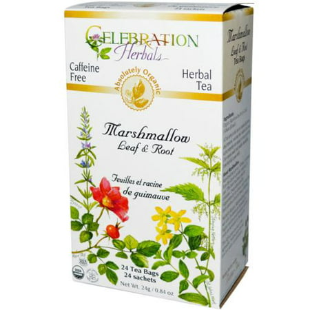 Celebration Herbals Marshmallow Leaf & Root Organic, 24 Ct