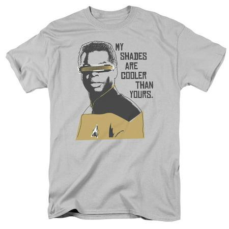 Star Trek Cooler Shades Mens Short Sleeve Shirt (Silver, Small)