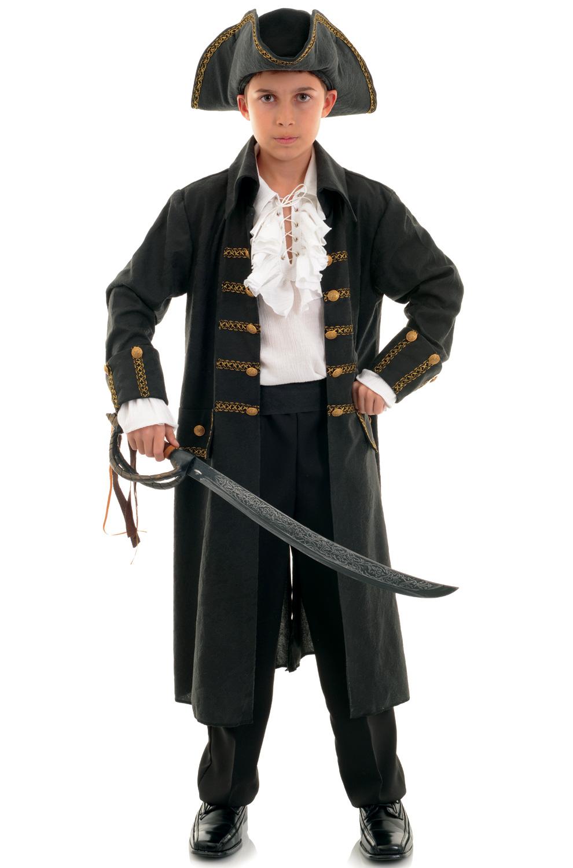 Pirate Captain Child Costume (Black) by Underwraps